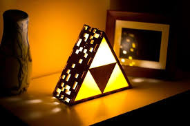 Handmade Table Lamp The Legend Of Zelda Triforce Shaped Table Lamp Gadgetsin