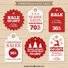 christmas sale labels collection vector free download