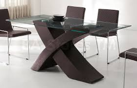 Round Glass Dining Table Wood Base Dining Room Great Small Modern Dining Room Design And Decoration