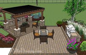 Creative Brick Patio Design With Pergola Tub Seat Walls And by 775 Sq Ft Of Outdoor Living Space Areas For Outdoor Dining
