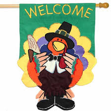 thanksgiving house flags welcome turkey house flag thanksgiving flags holidays
