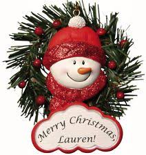 personalized snowman ornament magnet jeane s things ebay