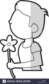 cartoon son boy and flower gift stock vector art u0026 illustration