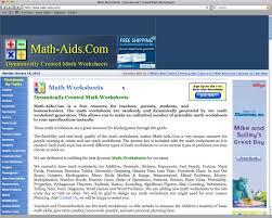 educational reviews math aids com