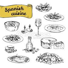 illustration cuisine vector illustration of traditional cuisine