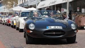 jaguar xk type a nice jaguar xk e type at the baden classic rally