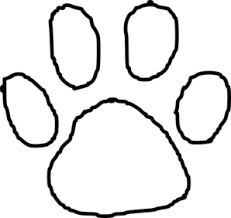 paw print template tiger paw print outline clip at clker vector clip