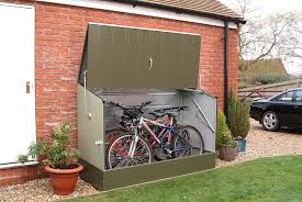 Outdoor Sheds For Sale amazon com bosmere trimetals a300 bicycle storage unit 77