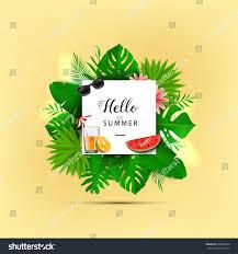 hello summer vector illustration summer banner stock vector
