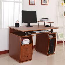 desktop computer desk homcom computer desk study table pc desktop w printer shelf home