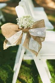 rustic romantic temecula creek wedding burlap bows burlap and