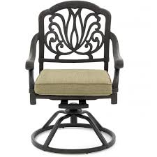 Swivel Patio Dining Chairs Rosedown Cast Aluminum Patio Swivel Rocker Dining Chair By