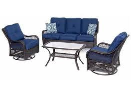 patio furniture conversation sets bahia tan 4 piece outdoor