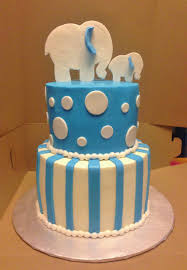 cakes by mindy blue and white elephant baby shower cake 6