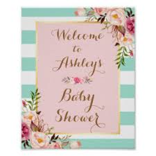 baby shower sign baby shower posters zazzle