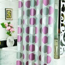 Purple Bathroom Curtains 2016 New Top Grade Modern Pvea Purple Circle Shower Curtains