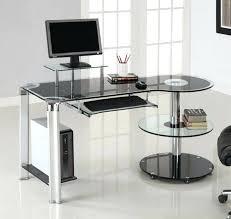 Wayfair Office Desk Furniture Stylish Glass Computer Desk Wayfair With Shelf And