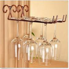 china metal wall mounted wine glass rack side stand cup glass