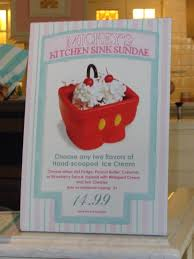 Having A Mickeys Kitchen Sink Sundae Aka The Mickey Pants Sundae - Kitchen sink ice cream sundae
