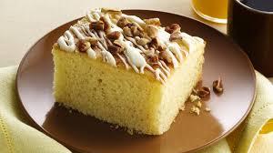gluten free eggnog breakfast cake recipe bettycrocker com