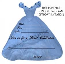 colors printable cinderella birthday invitation card maker with
