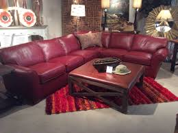 Flexsteel Curved Sofa by Flexsteel Red Leather Sectional Just Arrived New Items