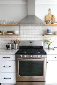Kitchen Range Backsplash We Re Loving The Subway Tile For The Backsplash Design In This
