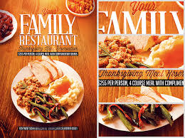 thanksgiving restaurant flyer template flyerheroes