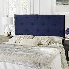 amazon com safavieh martin navy blue velvet upholstered tufted