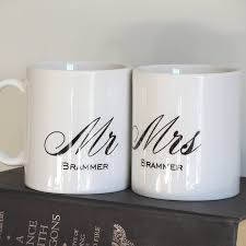 Wedding Gift Shop Personalised Mr And Mrs Wedding Mugs By The Alphabet Gift Shop