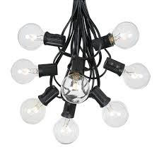 Commercial Grade Patio Light String by G40 Globe String Lights With 25 Yellow Globe Bulbs Use