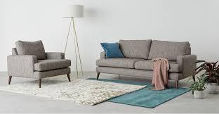 design by conran sofa armchair in pebble textured weave walnut hewitt made com