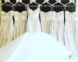 wedding dress hanger set of 7 glitter hangers bridesmaid hangers bridal party