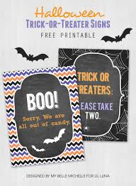 trick or treater candy sign