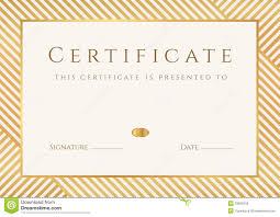 certificate diploma template gold award pattern illustration
