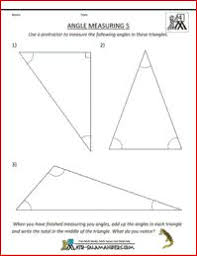 find the missing angles 5th grade math geometry sheet to find