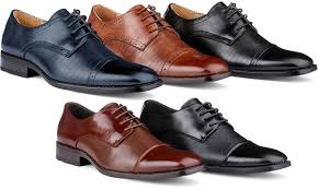 dress shoes signature s cap toe derby dress shoes groupon