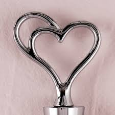 in gift fused in heart wine stopper in gift packaging the