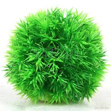 2017 red green yellow 13cm fish tank grass ball home decoration