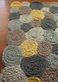 hand crocheted wool rug do it darling