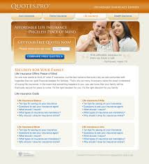 life insurance quote now project detail view life insurance landing page design