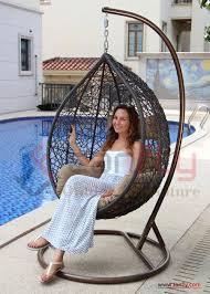 two person outdoor indoor garden rattan double swing hanging