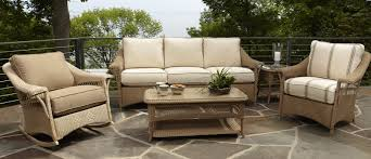 Wicker Patio Furniture Replacement Cushions - outdoor patio wicker chairs seat using light brown thick