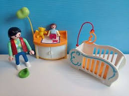 playmobil chambre bébé sympa chambre bebe playmobil mobilier maison enfant 0746 ebay
