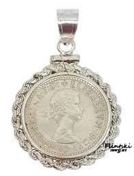 silver pendant necklace australia images 1961 queen elizabeth australian sixpence coin pendant flintski jpg