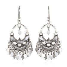 chandelier earrings silver veils petal chandelier earrings satya jewelry