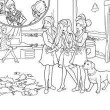 barbie princess charm coloring pages
