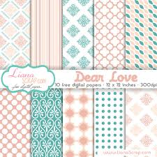 Scrapbook Paper Packs Free Digital Paper Pack Dear Set Lianascrap