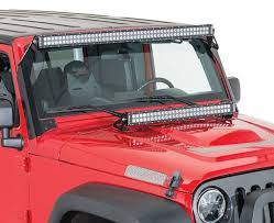 jeep jk hood led light bar kc c series led lights are the perfect blend of value and