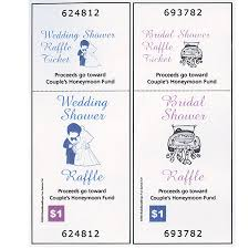honeymoon fund bridal shower raffle tickets for bridal showers personalized set of 40